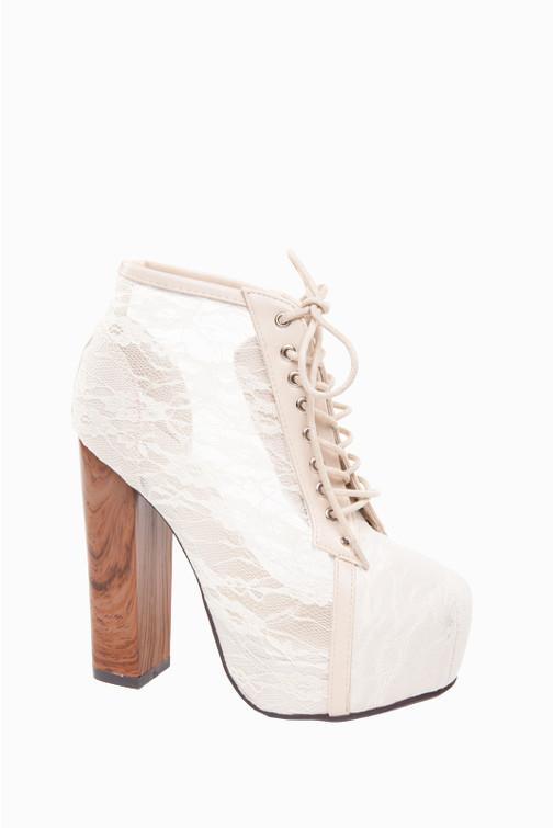 Lace Chunky Platform Ankle Boots Jessyss