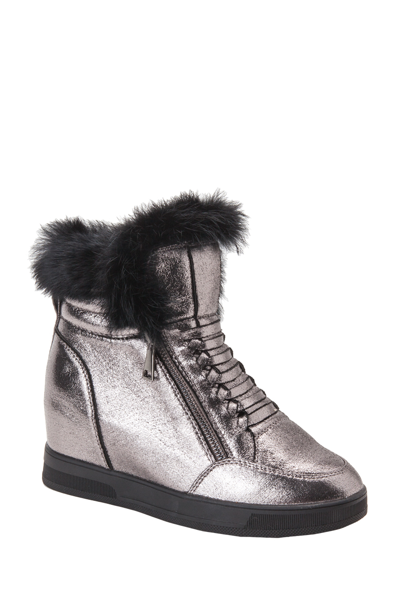 d22233699bb Jessyss - Wedge Trainers Ankle Boots With Fur Trim