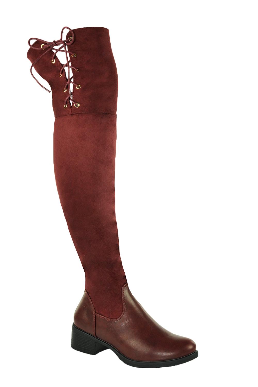 949e2d177619 Jessyss - Čižmy nad kolená s nízkym podpätkom