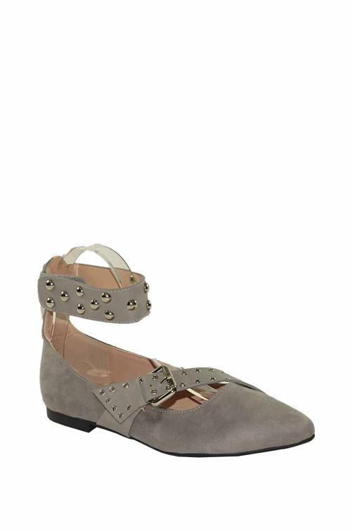 Nízké boty baleríny s pásky a nýty ve stylu  Isabel Marant 3fefba545e