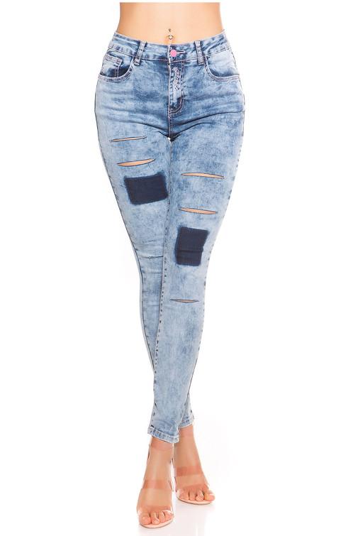 001d9d371ea5 Skinny džínsy vyšúchaného vzhľadu s vysokým pásom