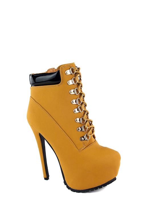 cb93413de13f Jessyss - Členkové topánky na vysokom podpätku a platforme